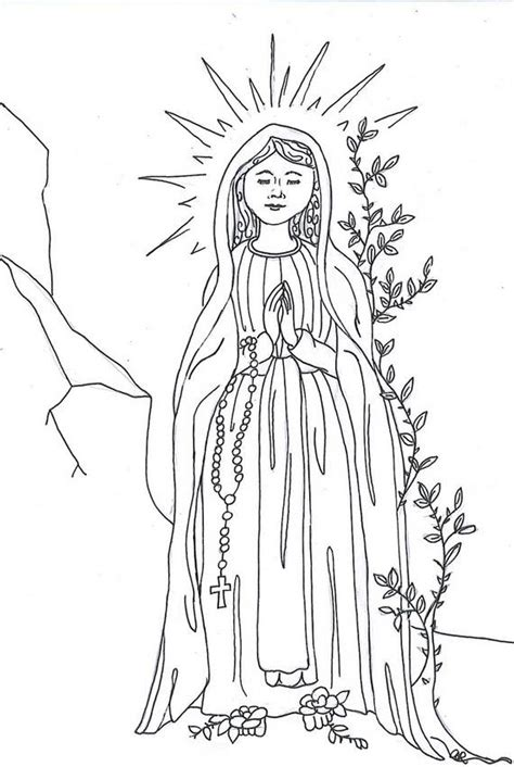 coloring page of virgin mary the assumption of blessed virgin mary glorious mysteries