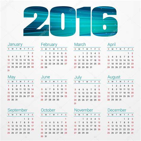 Calendario 2016 En Semanas Calendario Semanas 2016 Calendar Template 2016