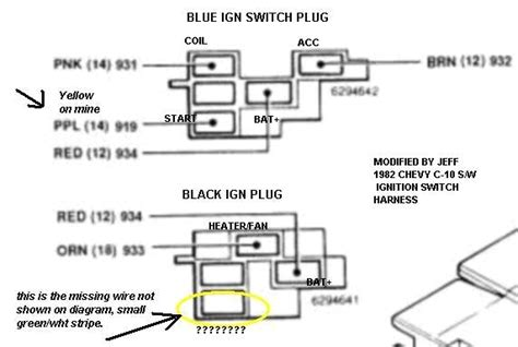 1985 chevy truck ignition wiring diagram free