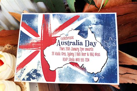 free printable birthday invitations australia australia day invitation