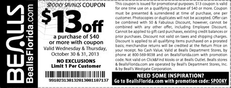 bealls outlet printable coupons 2014 bealls department store 13 off 40 printable coupon