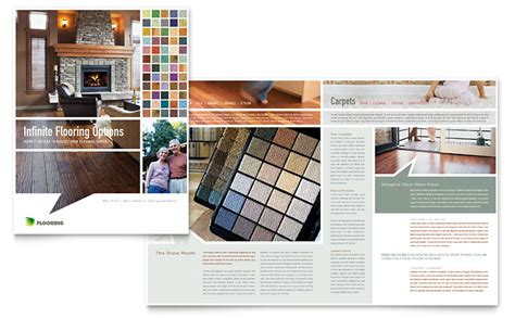 Carpet Hardwood Flooring Brochure Template Word Publisher Sales Catalog Template