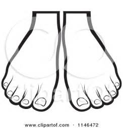 foot coloring page foot outline clipart clipart suggest