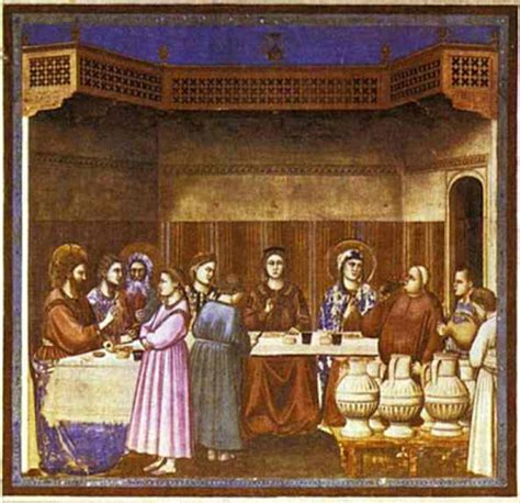 Wedding At Cana Giotto by Part 3 The Wedding At Cana And The Of