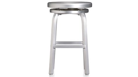 Aluminum Bar Stools Crate And Barrel by Spin Swivel Backless Bar Stool Crate And Barrel