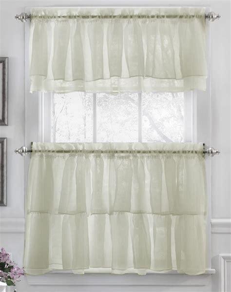 Kitchen Sheer Curtains 16 Best Sheer Kitchen Curtains Images On Kitchen Curtains Layered Curtains And Tier