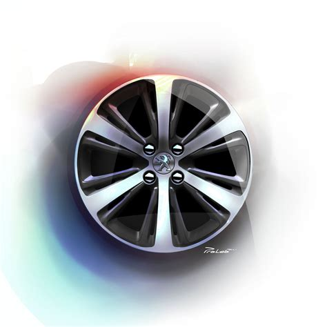 peugeot car wheels peugeot 208 xy wheel design sketch sketches pinterest