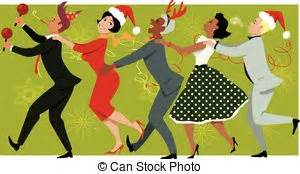 office christmas party clip art and stock illustrations