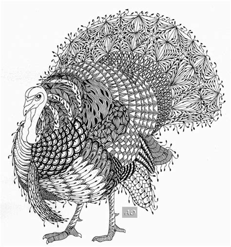 zentangle turkey coloring page 194 best images about zentangle birds on pinterest
