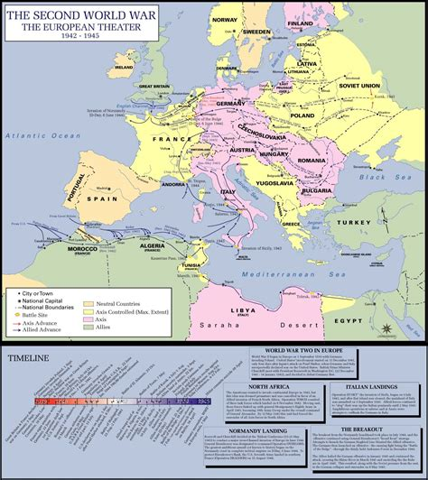 printable world war 2 map of europe ww ii maps