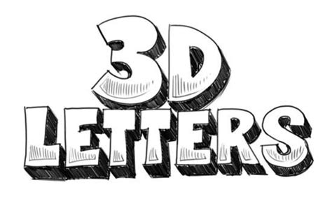 how to draw 3d letters 3d letters 3d and to draw on 1296
