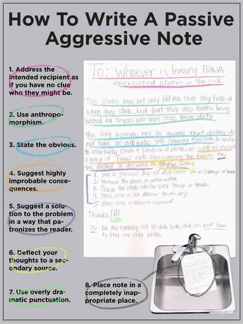 how to aggressive how to write a passive aggressive note page 11 of 12 humor sloshspot