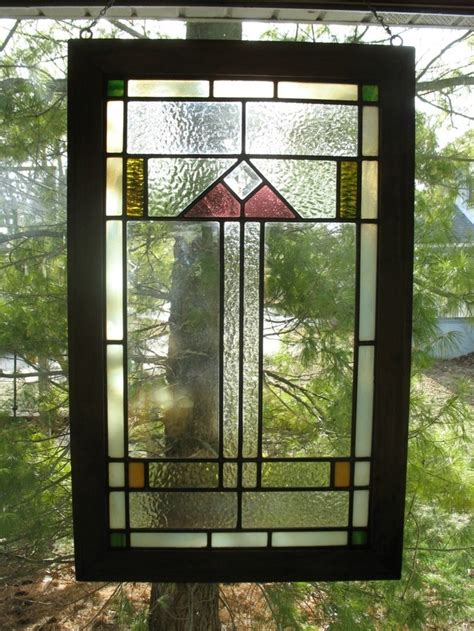 craftsman stained glass prairie craftsman style stained glass window