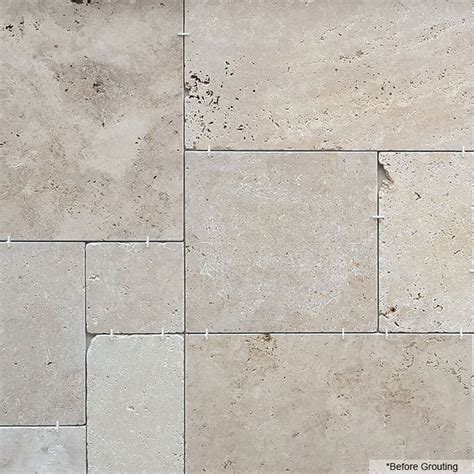 french pattern travertine tiles only 27 m2 budget mixed tumbled french pattern