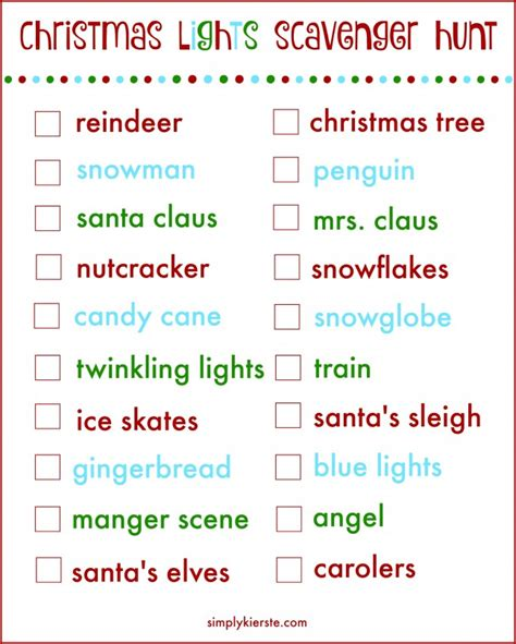 printable christmas light scavenger hunt go on a christmas lights scavenger hunt with your family