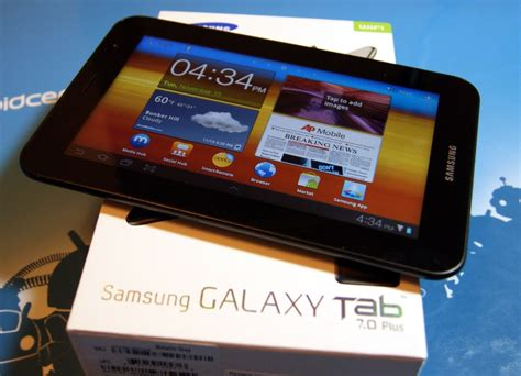 samsung galaxy tab 7 plus on and initial review android central