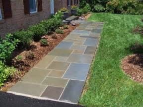 walkway ideas flagstone walkway professional stone work silver spring md phone 240 644 4706
