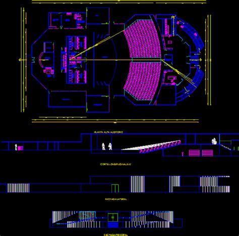 Modern House Floor Plan planos de teatro auditorio en dwg autocad auditorios
