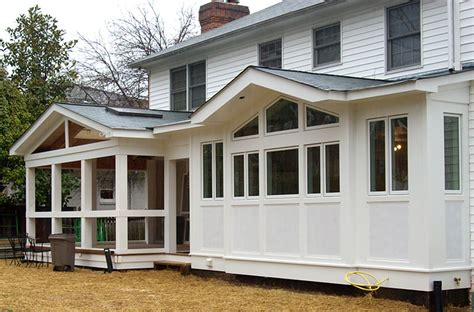 Sunroom Addition To House The Brick Colonial Kitchen In Mclean Better