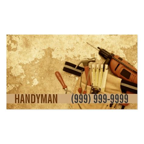 Business Cards Templates For Handyman Free by Maintenance Construction Handyman Business Card Zazzle