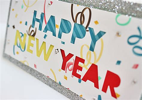 New Year Handmade Cards Ideas - happy new year handmade cards using silhouette cameo