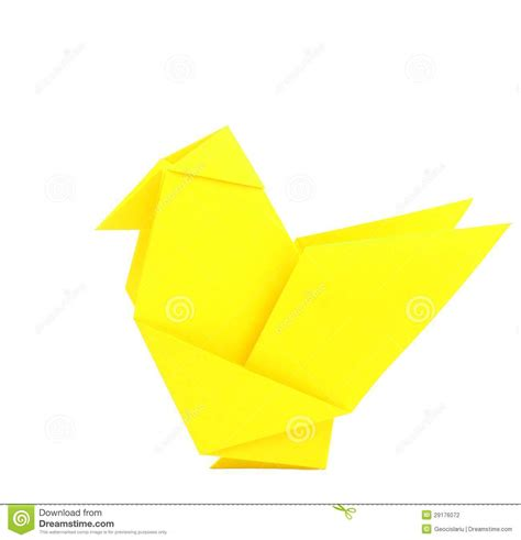 Origami Chicken - origami chicken stock photography image 29176072