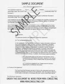Letter Of Non Disclosure Agreement 6 Non Disclosure Agreement Templates Excel Pdf Formats