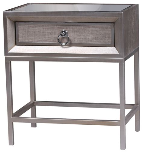 bedside l end table nightstand with 3 drawers usb shop houzz statements by j silent nightstand