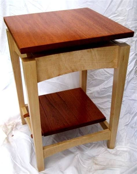 Ethan Allen Dining Room Tables by Hand Made Mahogany And Maple Floating Top Side Table By
