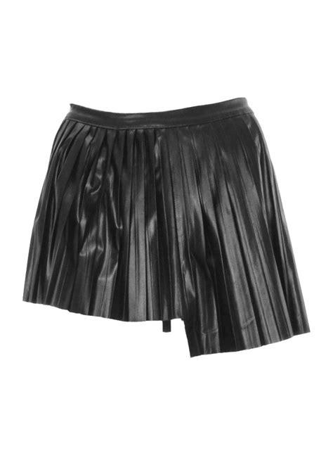 hi low pleated skirt attitude clothing