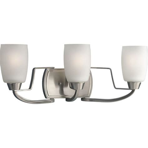 progress lighting bath match collection 5 light brushed progress lighting wisten collection 3 light brushed nickel