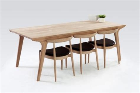 danish modern oak dining table designer dining tables