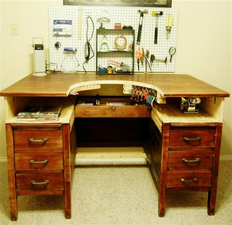 jewellery making bench repurposed desk into jeweler s bench love this idea now