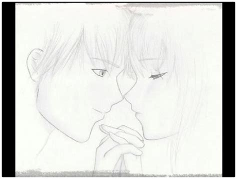 imagenes anime lapiz dibujos anime de amor a lapiz para compartir dibujos de