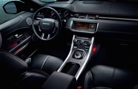 land rover evoque interior my2017 evoque update adds 10 2in screen ember special