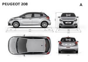 Peugeot 208 Dimensions Dimensions Ext 233 Rieures Mm Peugeot 208 Restyl 233 E 2015