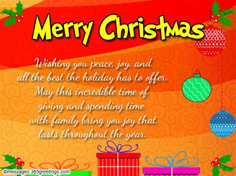 Christmas Gift Card Messages - christmas card messages wishes and wordings 365greetings com