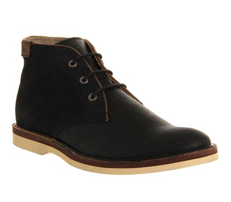 lacoste sherbrooke boots in black for lyst