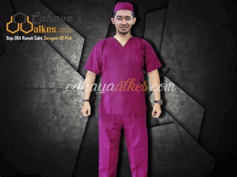 Baju Oka Operasi baju oka lengan pendek seragam ok pink cahaya alkes