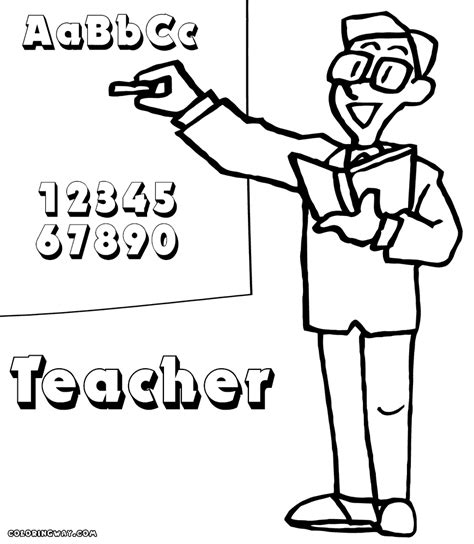 teacher coloring pages coloring pages to download and print