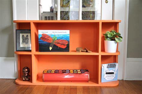 orange bookcase