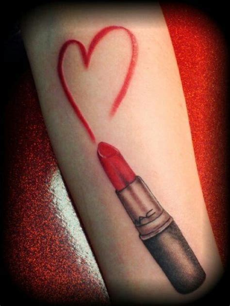 lipstick tattoo for lips 16 tattoos of lipstick kisses and pretty lips