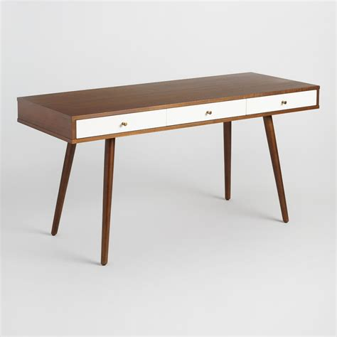Wood Zarek Mid Century Style Desk World Market Mid Century Desk