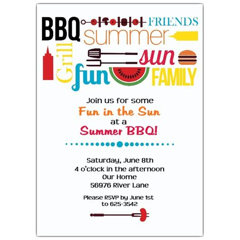 summer bbq invitations paperstyle