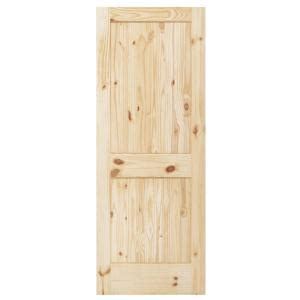 steves sons rustic 2 panel plank solid knotty pine