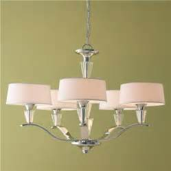 Crystal Chandelier Lamp Shades Modern Tiered Crystal And Chrome Shade Chandelier Medium