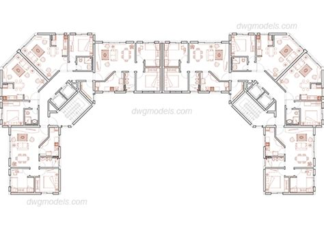 free download residential building plans residential building dwg free cad blocks download
