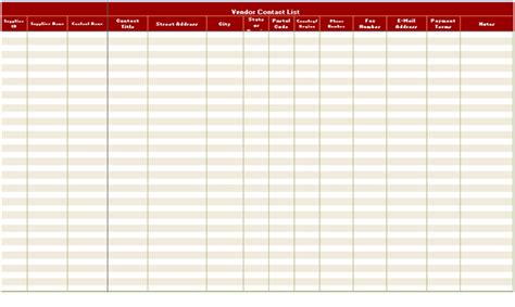 Free Contact List Template Excel Xls Excel Xls Templates Excel Address List Template