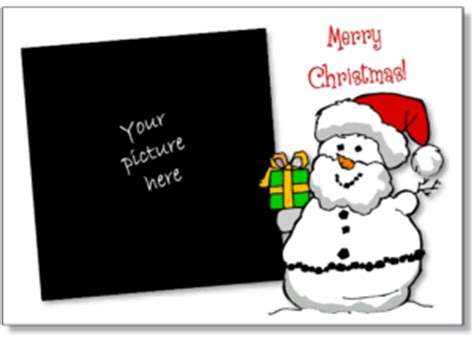 free santa card templates printable card printable cards