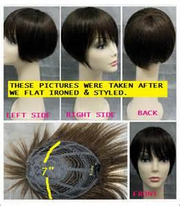 human hair weave closure with bangs human hair crown closure top wig with bang human hair top
